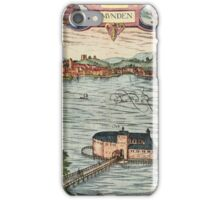 Gmunden Vintage map.Geography Austria ,city view,building,political,Lithography,historical fashion,geo design,Cartography,Country,Science,history,urban iPhone Case/Skin