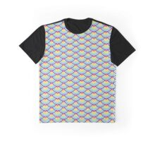 Abstract geometric seamless pattern. Colorful scaly ornament.  Graphic T-Shirt