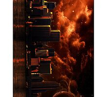 Orange After World City ( Portrait ) by Wookiee