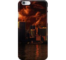 Orange After World City ( Landscape ) iPhone Case/Skin