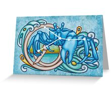 Cancer Crab Constellation Greeting Card