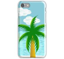 Palm trees on a tropical beach iPhone Case/Skin