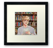 Bookshelf Jin Framed Print