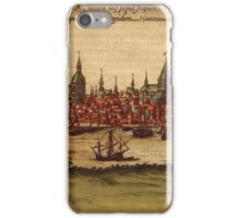 Hansa Vintage map.Geography Sweden ,city view,building,political,Lithography,historical fashion,geo design,Cartography,Country,Science,history,urban iPhone Case/Skin