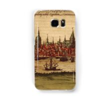 Hansa Vintage map.Geography Sweden ,city view,building,political,Lithography,historical fashion,geo design,Cartography,Country,Science,history,urban Samsung Galaxy Case/Skin