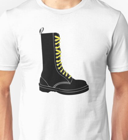 Boot with yellow laces [skinhead] Unisex T-Shirt