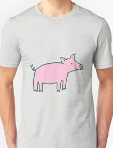 Simple Pig - pink and white Unisex T-Shirt