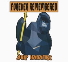 HARAMBE FOREVER REMEMBERED Kids Tee