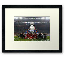Portugal celebration euro 2016 Framed Print