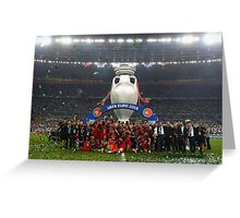 Portugal celebration euro 2016 Greeting Card