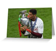 Cristiano Ronaldo celebration euro 2016 Greeting Card