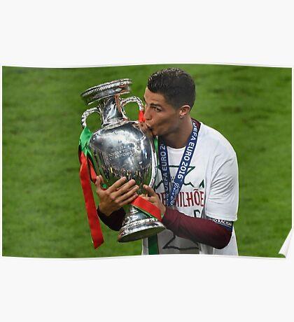 Cristiano Ronaldo celebration euro 2016 Poster
