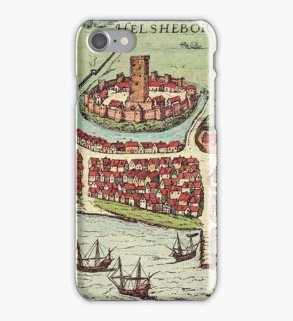 Helsinborg Vintage map.Geography Sweden ,city view,building,political,Lithography,historical fashion,geo design,Cartography,Country,Science,history,urban iPhone Case/Skin