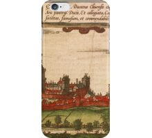 Kleve Vintage map.Geography Germany ,city view,building,political,Lithography,historical fashion,geo design,Cartography,Country,Science,history,urban iPhone Case/Skin