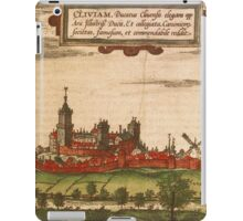 Kleve Vintage map.Geography Germany ,city view,building,political,Lithography,historical fashion,geo design,Cartography,Country,Science,history,urban iPad Case/Skin