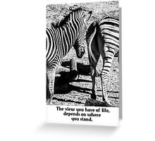 Zebra In A Bad Location Card Greeting Card