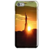 Statue of Liberty at Sunset iPhone Case/Skin