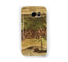 Kilwa Vintage map.Geography Tanzania ,city view,building,political,Lithography,historical fashion,geo design,Cartography,Country,Science,history,urban Samsung Galaxy Case/Skin