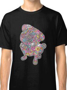 colorfull henna pug  Classic T-Shirt