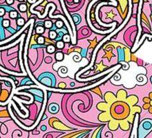 colorfull henna pug  Sticker