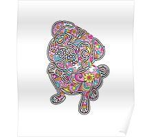colorfull henna pug  Poster