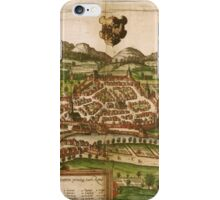 Kempten Vintage map.Geography Germany ,city view,building,political,Lithography,historical fashion,geo design,Cartography,Country,Science,history,urban iPhone Case/Skin
