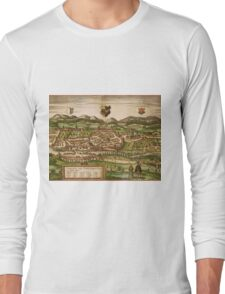 Kempten Vintage map.Geography Germany ,city view,building,political,Lithography,historical fashion,geo design,Cartography,Country,Science,history,urban Long Sleeve T-Shirt