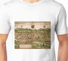 Kempten Vintage map.Geography Germany ,city view,building,political,Lithography,historical fashion,geo design,Cartography,Country,Science,history,urban Unisex T-Shirt