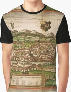 Kempten Vintage map.Geography Germany ,city view,building,political,Lithography,historical fashion,geo design,Cartography,Country,Science,history,urban Graphic T-Shirt