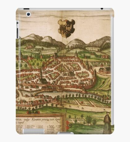 Kempten Vintage map.Geography Germany ,city view,building,political,Lithography,historical fashion,geo design,Cartography,Country,Science,history,urban iPad Case/Skin