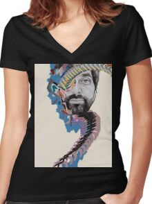 Painting With (Geologist) Women's Fitted V-Neck T-Shirt