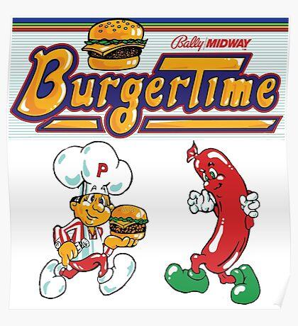 Burgertime Arcade Game  Poster