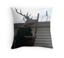 the stag man of hastings Throw Pillow
