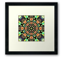 Colourful Pattern in a Kaleidoscope Framed Print