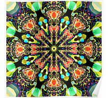 Colourful Pattern in a Kaleidoscope Poster