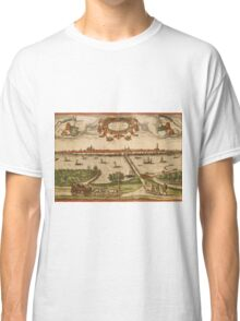 Kampen Vintage map.Geography Netherlands ,city view,building,political,Lithography,historical fashion,geo design,Cartography,Country,Science,history,urban Classic T-Shirt