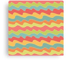Retro colorful wave pattern. Pop seamless background.  Canvas Print