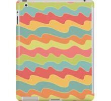 Retro colorful wave pattern. Pop seamless background.  iPad Case/Skin
