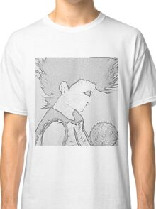 Punk Girl and Saw Blade - original work Classic T-Shirt
