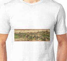 Jerez De La Frontera Vintage map.Geography Spain ,city view,building,political,Lithography,historical fashion,geo design,Cartography,Country,Science,history,urban Unisex T-Shirt