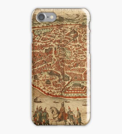 Istanbul Vintage map.Geography Turkey ,city view,building,political,Lithography,historical fashion,geo design,Cartography,Country,Science,history,urban iPhone Case/Skin