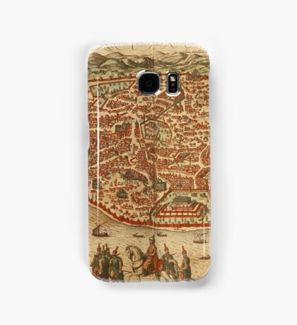 Istanbul Vintage map.Geography Turkey ,city view,building,political,Lithography,historical fashion,geo design,Cartography,Country,Science,history,urban Samsung Galaxy Case/Skin