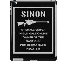 <SWORD ART ONLINE> Sinon A Female Sniper iPad Case/Skin