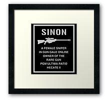 <SWORD ART ONLINE> Sinon A Female Sniper Framed Print