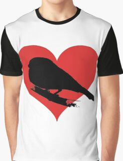 Bird with heart Graphic T-Shirt