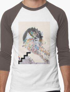 Painting With (Panda Bear) Men's Baseball ¾ T-Shirt