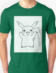 Black and White Pikachu 2 T-Shirt