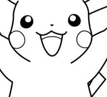 Black and White Pikachu 2 Sticker