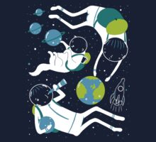 A Day Out In Space - Black Baby Tee