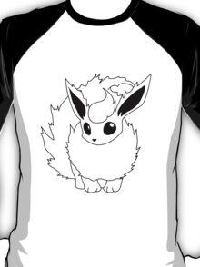 Black and White Flareon T-Shirt